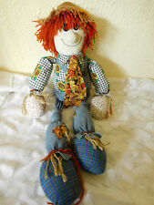 "Vtg. Country / Cottage Collectible Rag Doll ScareCrow Primitive Cloth~16""~FS&H~"