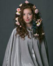 Luxury Half Cloak Lined Grey Cape Men Women Victorian Medieval Short