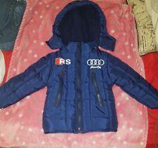 Manteau  bleu avec capuche fermeture éclair  Garçon 2 Ans Neuf Hiver