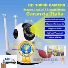 TELECAMERA 1080P HD WIRELESS INTERNA IP CAMERA MOTORIZZATA IR INFRAROSSI WIFI