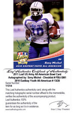 Sony Michel 2011 Leaf Autograph Card - EARLY Signature from Patriots 1st Rounder