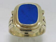 Ring 585 Gelbgold 14Kt Gold Handarbeit Lapislazuli  Gr.65