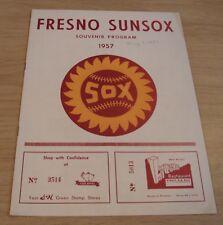 """RARE 1957 'Souvenir Program' """"FRESNO SUNSOX"""" Minor League BASEBALL~"""