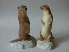 Pair Collectable Farm Countryside John Aynsley Otter Family Buy 1 Get 1 Free