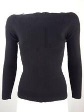 a5072dba83b JEAN PAUL GAULTIER Soleil Women Knit Sweater Ribbed Jumper Wool Black S XS  4 6