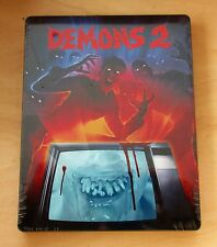 Demons 2 (1986) Blu-ray/DVD, 2-Disc Set Steelbook Limited edition NEW SEALED