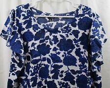 Women's Lucky Brand Plus Size Flutter Sleeve  Shirt  3X