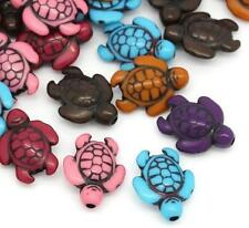 10 Adorable Acrylic Turtle Spacer Beads 18mm with 1.8mm hole New AWESOME!