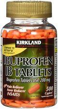 Kirkland Ibuprofen IB Tablets 200 mg 500 Tablets comparable to Motrin IB
