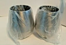 """Stainless Steel Wine Glass Stemless 10oz. (2pack) Silver 4.5"""" Tall"""
