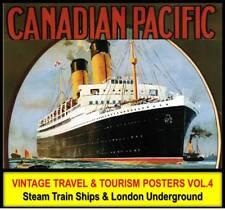 SHIPS LINER TRAIN RAILWAY VINTAGE TRAVEL POSTERS #4 DVD Art Prints Nouveau Deco