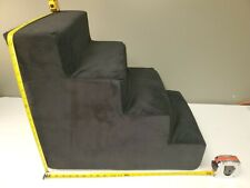 Majestic Pet 4 Step Velvet Suede Pet Stairs Foam Feeling Pet Step for Dogs &