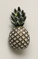 Vintage style  pineapple Brooch pin in enamel on Metal