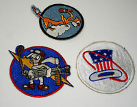 3 US Army Air Force Cat 94th 487th Squadron Bomb Fighter Patch New NOS 60s?