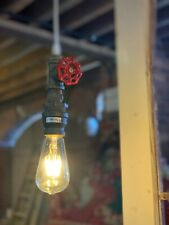 Vintage Industrial Water Pipe Ceiling Pendant Light With Free Edision Bulb