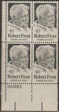 Scott# 1526 - 1974 Commemoratives - 10 cents Robert Frost Plate Block