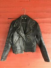 Vintage 1950s-60s Cal Leather Calleather Mens/Womens Leather Motorcycle Jacket