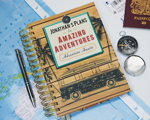 Personalised Travel Journal A5 Wire Bound Hardback Notebook