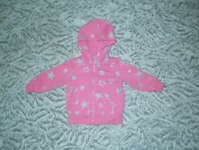 Okie Dokie Toddler Girl Pink Star Hooded Zip-Up Sweater Size 12M