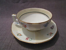 belle tasse et sous-tasse ancienne en porcelaine de limoges
