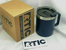 RTIC 12oz Coffee Steel Cup NAVY BLUE Vacuum Insulated With Spill Proof Lid/ 1356