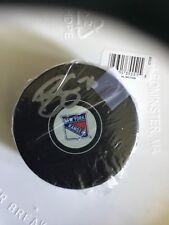Brady Skjei New York Rangers Signed NHL Logo Puck Steiner COA