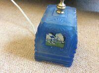 Art Deco 1939 NYC Worlds Fair Light Lamp Collectible New York Rare Glass Buildin