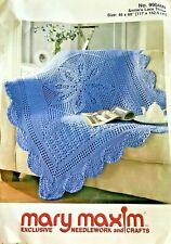 """New listing Mary Maxim Crochet Annie's Lace Throw Afghan Kit 46x60"""" Simply Soft Caron Orchid"""