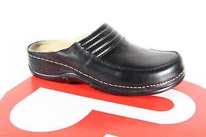 Berkemann Women Clogs Slippers Sabot Real Leather Black New