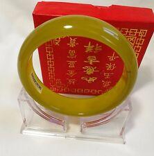 Certificated genuine natural yellow Jade Bangle Dia60mm, gemstone bangle