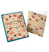 Thank You Thanks Boxed Multi Pack 6 Cards & Envelopes 1 Flower Butterfly Design