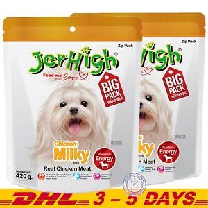 JerHigh Chicken Milky Stick Dog Puppy Treats Snack Food Save Pack 420 g x 2