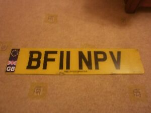 GREAT BRITAIN ENGLAND KIDDERMINSTER EURO 2011 UNION FLAG #BF11 NPV LICENSE PLATE