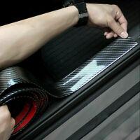 3CM*1M Car Carbon Fiber Door Sill Edge Protector Rubber Guard Sticker Strip