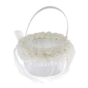 Elegant Lace Flower Basket Engagement Wedding Ceremony Party Flower Basket