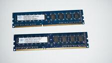 Nanya 4GB (2x2GB) DDR3 2Rx8 PC3 10600U 1333MHz 240-PIN - NT2GC64B8HCONF-CG