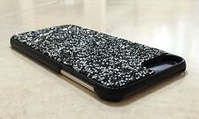 Black Silver Rock Made with Swarovski Crystal Bling Case Cover Gem iPhone 7 Plus