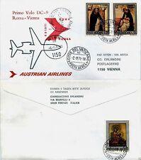 Aerogramma racc. 1° volo (VATICANO 2.9)Roma->Vienna 6.9.1971-AUSTRIAN DC9(810AB)