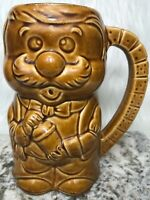 Vintage Ceramic Beer Stein Made In Japan Waiter Mixing Drink Dice Handle