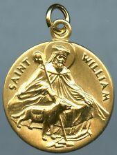 Saint William (of Vercelli)  Religious Pendent 12k Gold Filled