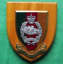 Vintage Regimental Oak Crest Shield Plaque The Royal Tank Regiment