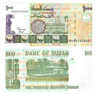 UNC SUDAN 1000 Dinars (1996) P-59c