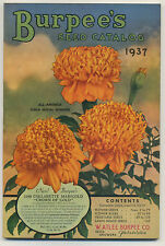 Burpee Seed Catalog 1937 - fabulous condition