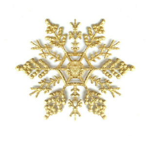 10CM Christmas Day Mall Decoration Snowflake Plastic Snowflake Accessories-