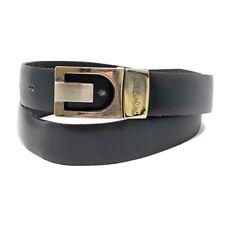 Yves Saint Laurent YSL Reversible Black Brown Faux Leather Dress Belt Sz Small
