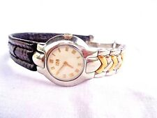 Gianni Versace Orologi limited edition SS case solid 18k gold interlinks Lknew