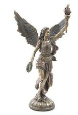 Greek Goddess of Victory Nike Torch Bronze Finish Running Statue #WU75495A4