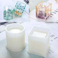 US Square/Round Silicone Mold DIY Pen Container Storage Holder Epoxy Resin Mold