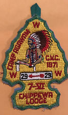 Chippewa Lodge 29 1971 CVC Conclave Camp Agawam Area 7-6