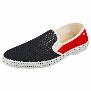 Rivieras Tdm France Mens Navy Red Textile Espadrille Shoes